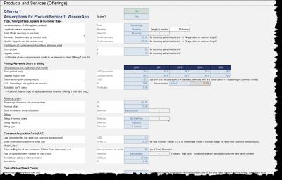Produktspezifische Einstellmöglichkeiten für Geschäftsmodelle mit wiederkehrenden Umsätzen