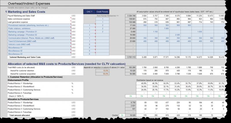 Verteilung von Marketing- und Vertriebskosten auf Kundengewinnung bzw. Kundenpflege