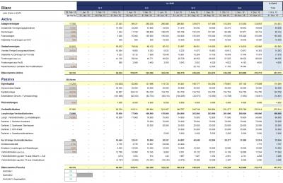 Detaillierte Bilanz-Übersicht