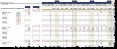 Projektergebnisanalyse monatlich, quartalsweise od. jahresweise aggregiert