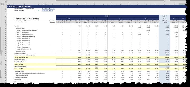 Gewinn- und Verlustrechnung jederzeit umschaltbar zw. ENG und DEU