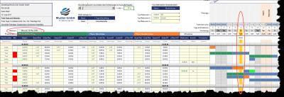 Automatische Markierung aktuelles Datum und Top-Meilensteine