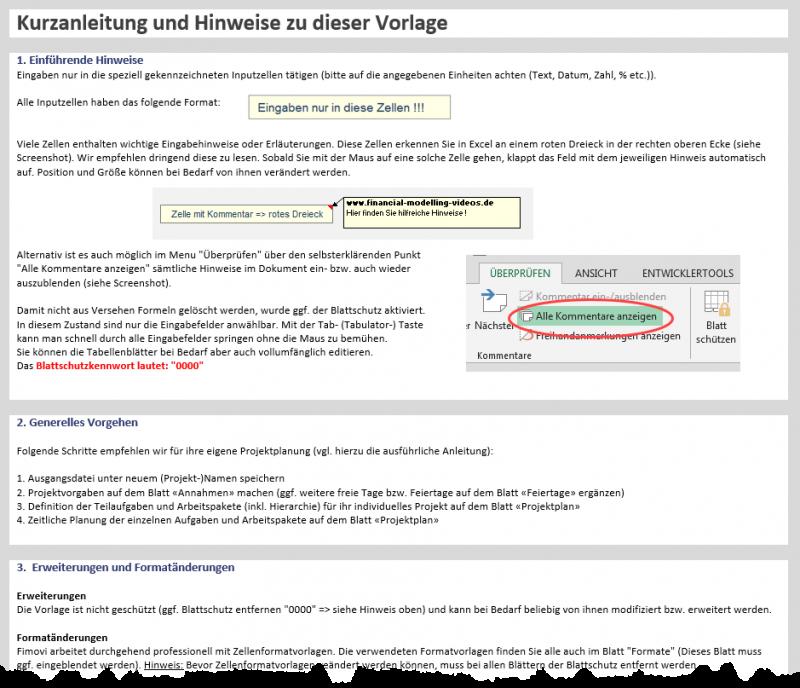 Kurzanleitung im Tool plus umfangreiches PDF-Handbuch