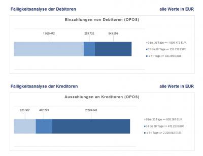 Fälligkeitsanalyse - grafische Darstellung
