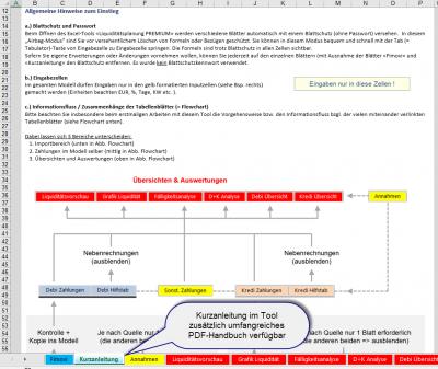 Kurzanleitung im Tool + PDF-Handbuch