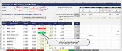 Markierung von Zahlungen außerhalb Planungshorizont