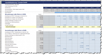 Planung der Ein- und Auszahlungen