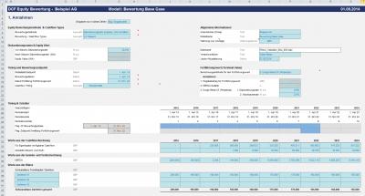 Discounted Cash Flow Methode: Eingaben